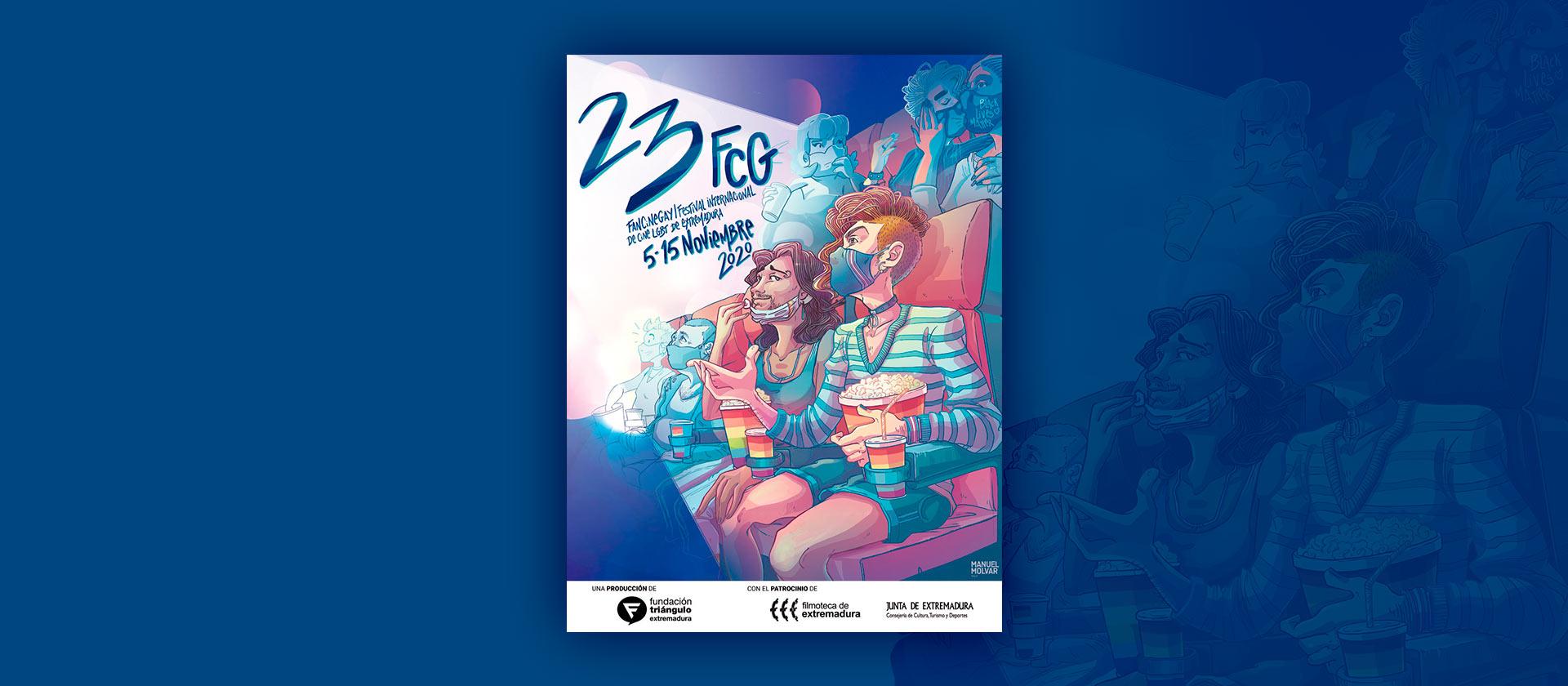 El sevillano Manuel Molvar firma el cartel de la 23ª edición de FanCineGay